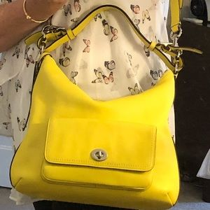 Sunshine Yellow Coach leather bag